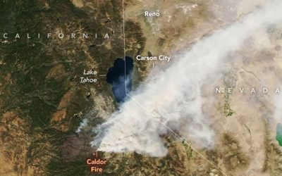 Caldor Fire seen from Space